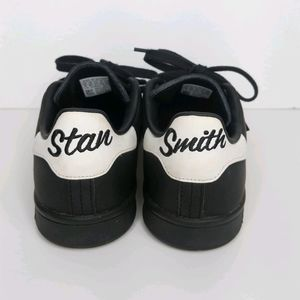 Adidas x Stan Smith Spellout Black Leather Shoes